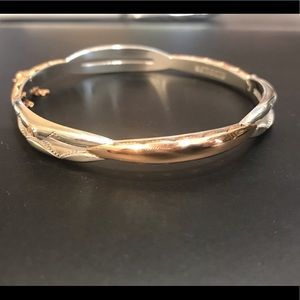 Tacori promise bracelet. 18k rose gold; 925 silver